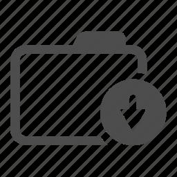 archive, arrow, down, folder, move icon