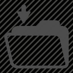 archive, folder, in, open icon