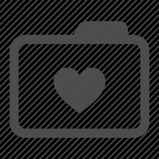 archive, favorite, folder, heart, like, love icon