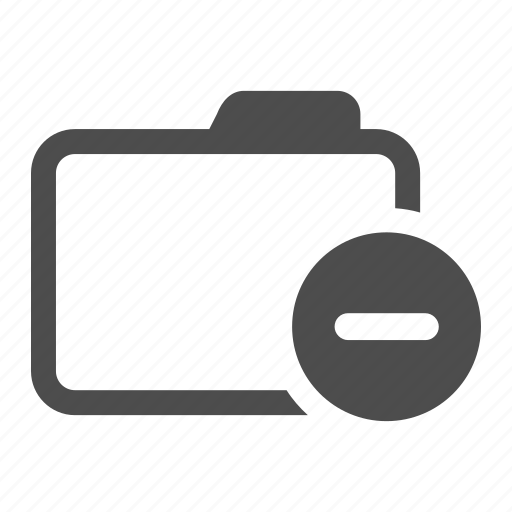 archive, delete, folder, less, minus, remove icon
