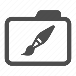 archive, art, brush, design, folder, graphic, paint icon