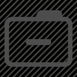 archive, folder, less, minus, remove icon