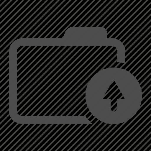 archive, arrow, folder, move, up icon