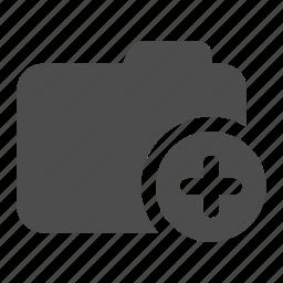 add, archive, folder, more icon