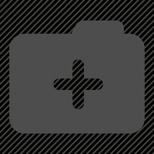 add, archive, folder, more, plus icon