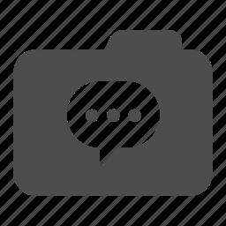 archive, bubble, folder, message, talk icon