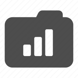 archive, bar, chart, folder, statistics icon