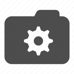 archive, cog, folder, settings icon