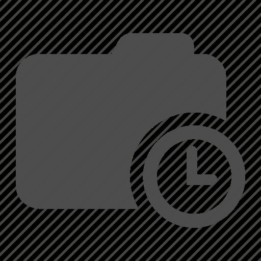 archive, clock, delayed, folder, postponed, timer icon