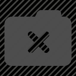 archive, delete, folder, less, remove icon