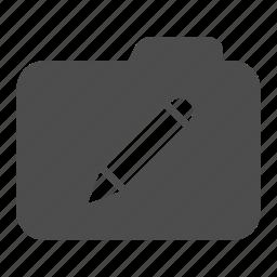 archive, design, draw, folder, pen, write icon