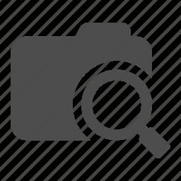 archive, examine, explore, find, folder, search, view icon
