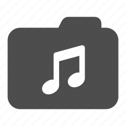 archive, folder, mp3, music, notes icon