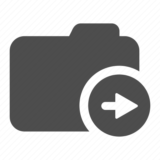 archive, arrow, folder, move, right icon