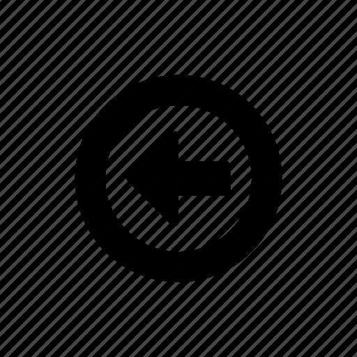 arrow, left, previous icon