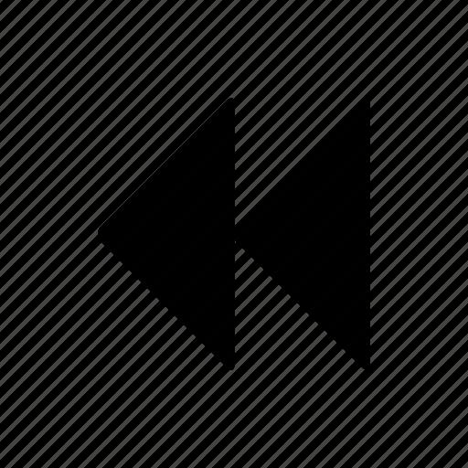 arrowheads, past, preceding, previous icon