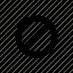 ban, block, deny, stop icon