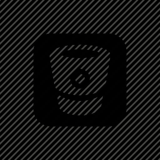 basket, bitbucket, pannier, recycle icon
