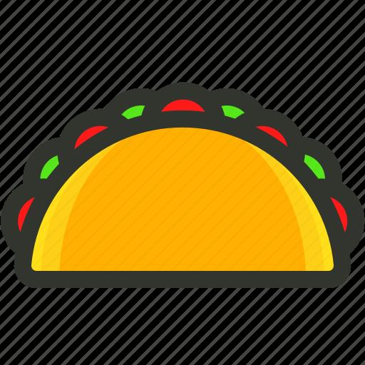 mexican food, street food, taco food, tortilla icon