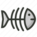 dead fish, fish skeleton, fishbone, food, seafood icon