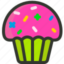 cream, cup cake, cupcake, dessert, food, muffin, sweet icon