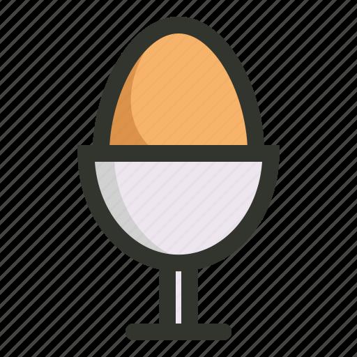 boiled egg, egg, egg holder, food, holder icon
