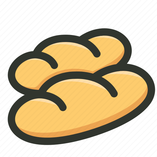 baguette, bread, french baguette, loaf icon