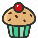 cupcake, dessert, muffin, snack icon
