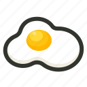 breakfast, egg, fried egg, omelette icon
