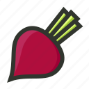 beatroot, beet, radish, vegetable icon
