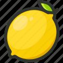 lemon, citrus, fruit, juicy, lemonade icon