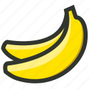 banana, bananas, fruit, natural, nutrition icon