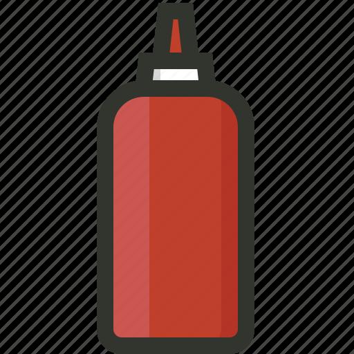 fastfood, ketchup bottle, paste, sauce, tomato icon