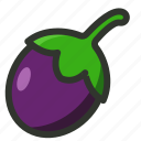 aubergine, brinjal, eggplant, vegetable icon
