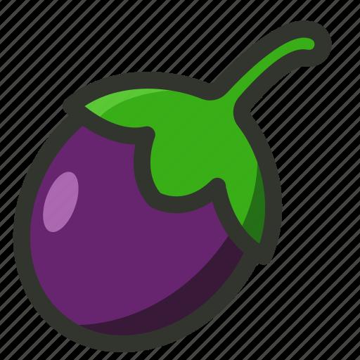 aubergine, brinjal, eggplant, vegetable icon