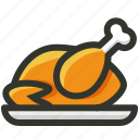 chicken, chicken drumstick, chicken leg, meat, poultry, roast chicken icon