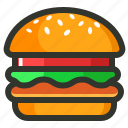burger, fast food, food, veg burger icon