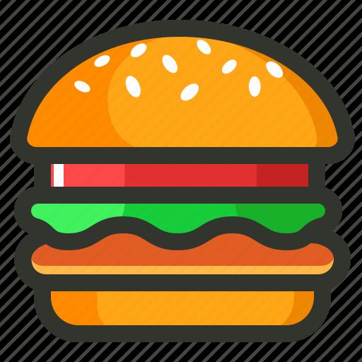 burger, fast food, food, veg burger icon