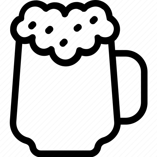 alcohol, beer mug, beer stein, chilled beer, drink icon
