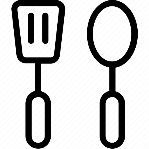 cutlery, kitchen, spatula, spoon, turner icon
