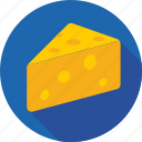 cheese, cheese block, cheese piece, dairy, food icon