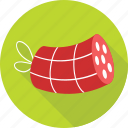 barbecue, bratwurst, salami, sausage, sausage roll icon