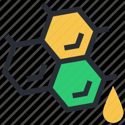 bee honey, honey, honey wax, honeycomb, sweet food icon