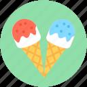 snow cone, ice cone, cone, ice cream, cup cone