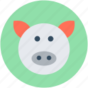 animal, pet pig, pig, pig face, piglet icon