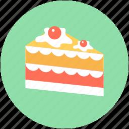bakery food, cake piece, dessert, pudding cake, sweet food icon