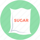 food, grocery, sugar pack, sugar bag, food sack
