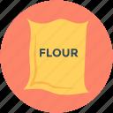 bread flour, cake flour, flour bag, flour pack, flour sack