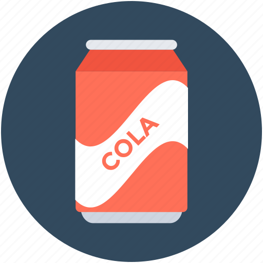canned drink, cola, cola can, soda tin, tin pack icon