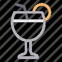 beverage, drink, glass, juice, straw